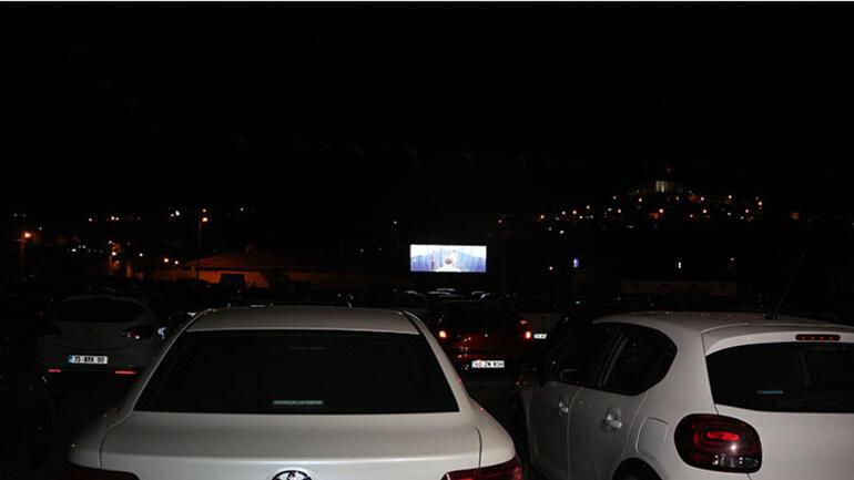 Tokatta arabalı açık hava sineması etkinliği