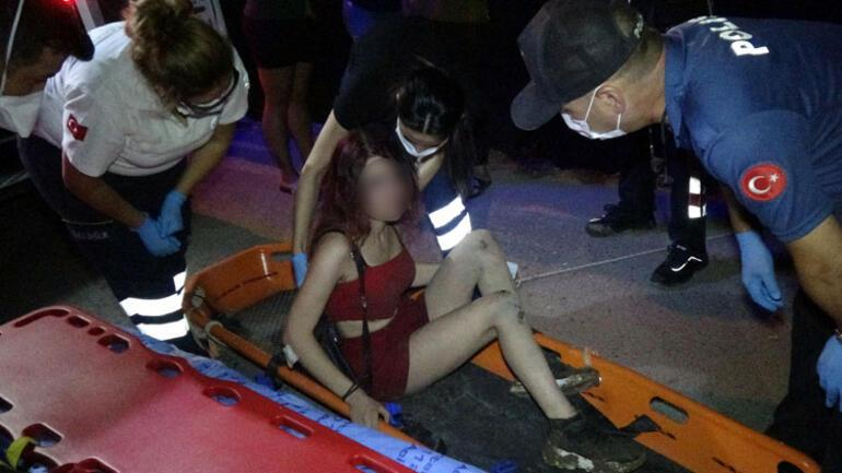 Antalyada gece yarısı ilginç olay 1 saat boyunca ikna etmek için uğraştılar...