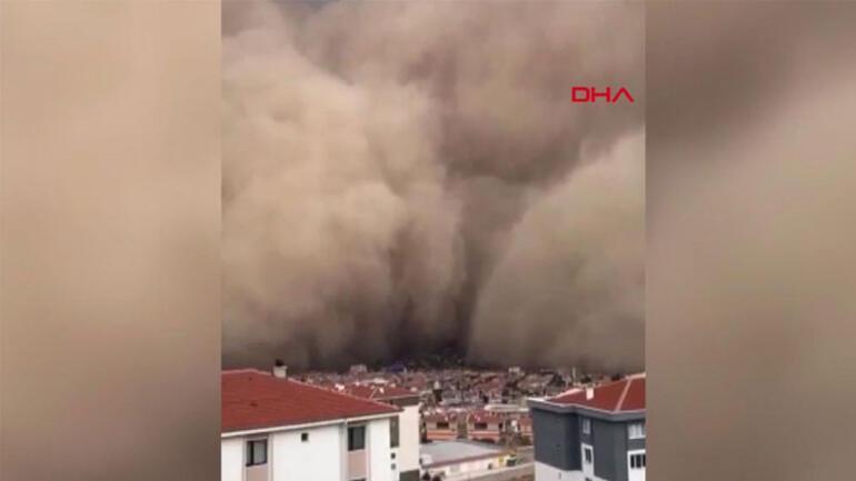 Son dakika haberler... Ankara Polatlıda inanılmaz görüntüler İlk defa böyle bir şey görüyorum