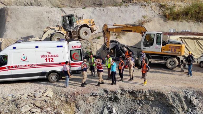 Son dakika haberler... Erzurumda Kop Dağında yapımı süren tünelde patlama sonrası göçük