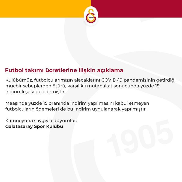 Son Dakika | Galatasaraydan futbolculara yapılan ödemelerle ilgili açıklama Belhanda ve Feghouli...