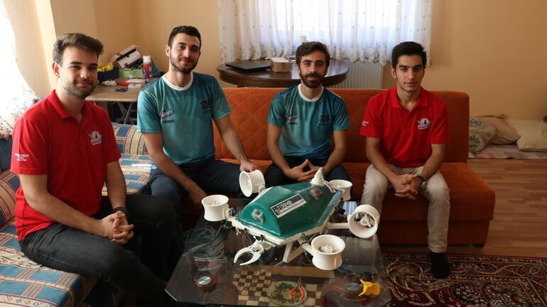 Üniversiteli  gençler su altı drone prototipi üretti