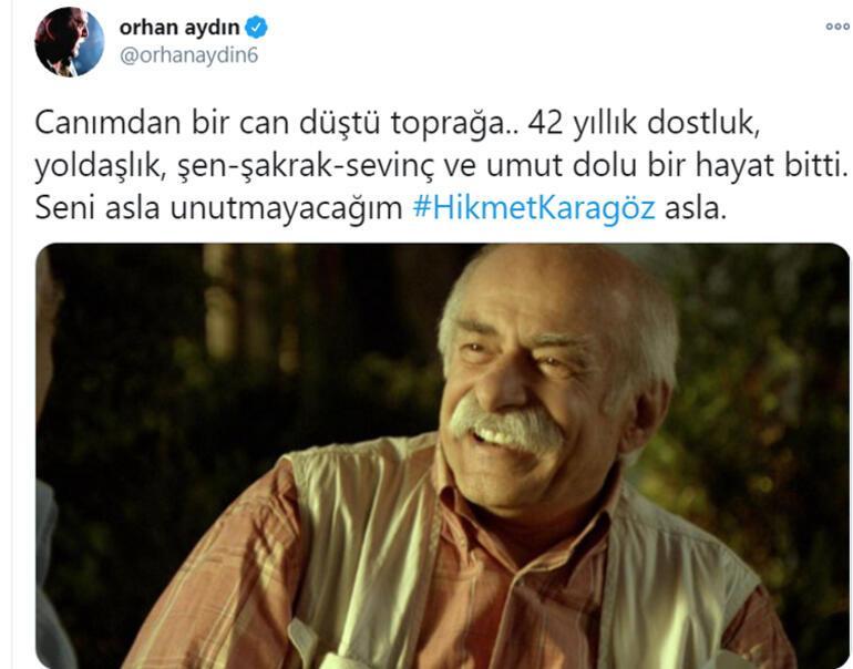 Usta oyuncu Hikmet Karagöz hayatını kaybetti