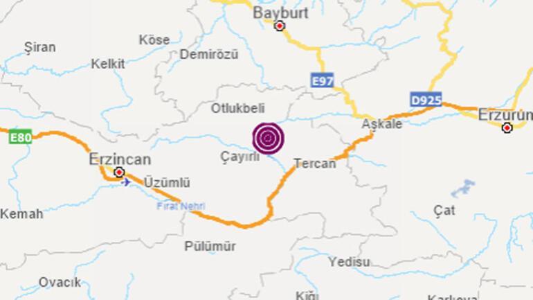 Son dakika haberler... Erzincan Tercanda 4.3 büyüklüğünde korkutan deprem