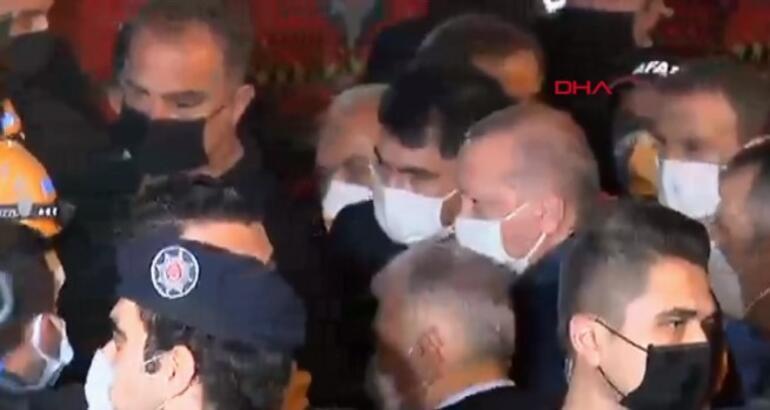 İzmirde son dakika gelişmesi Cumhurbaşkanı Erdoğan deprem bölgesinde İncelemelerde bulundu