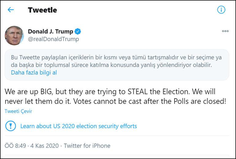 Son dakika... ABD seçimleri sırasında bomba gelişme: Trumpın mesajına engel
