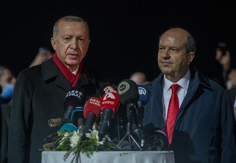 Son dakika haberi... KKTCde tarihi ziyaret... Cumhurbaşkanı Erdoğan 46 yıl sonra açılan Maraşta