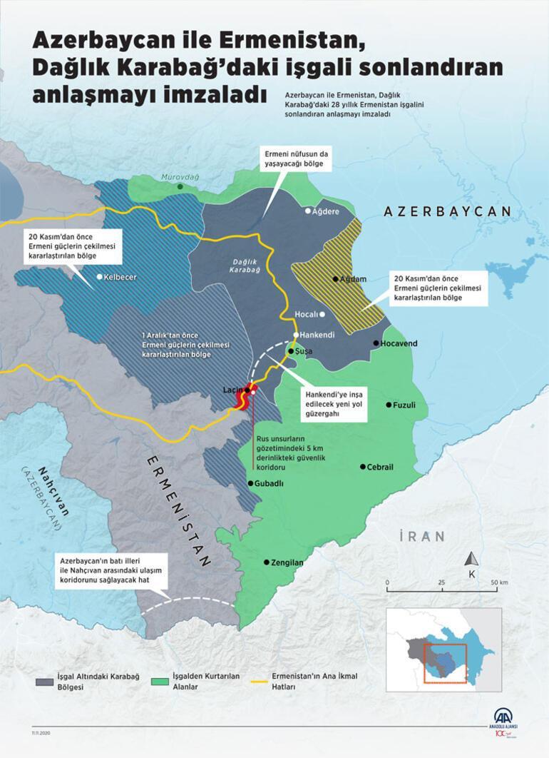 Son Dakika Haber... Azerbaycan ordusu 27 yıl Ermenistan işgali altında kalan Kelbecere girdi
