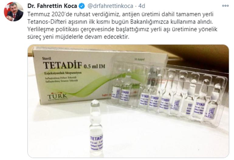 Son dakika... İlk yerli aşı müjdesi... 2015ten beri çalışma sürüyordu Bakan Koca duyurdu