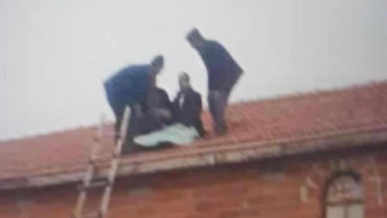 Kazada aracından çatıya fırlayan sürücünün arkadaşı: Şaşırdık