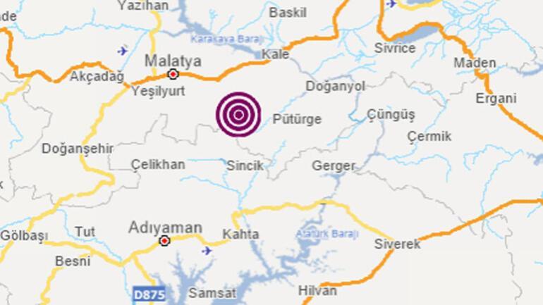 Son dakika.. Malatyada 4.7 büyüklüğünde deprem.. Çevre illerden de hissedildi