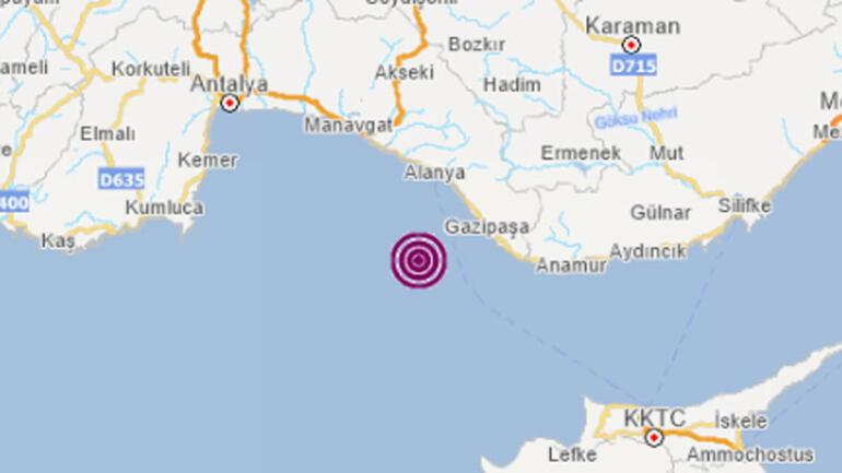Son dakika haberler: Antalyada 5.2 büyüklüğünde deprem.. Muğladan da hissedildi..