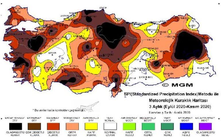 Son dakika haberleri... Meteoroloji yayınladı Olağanüstü ve çok şiddetli kuraklık görüntüsü