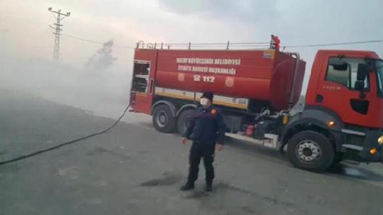 Hatayda, zeytinyağı fabrikasında yangın