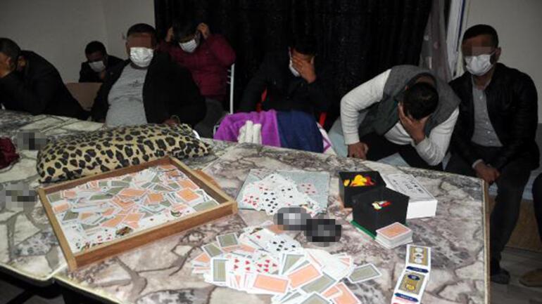 Kumarhaneye çevrilen ofise baskın: 17 kişiye 70 bin TL ceza