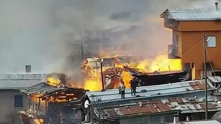 Son dakika haberler: Rize'de korkutan yangın