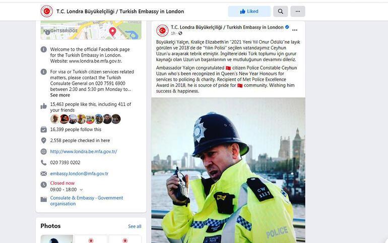 Londra Büyükelçisi'nden Türk polise tebrik: Gurur kaynağımız
