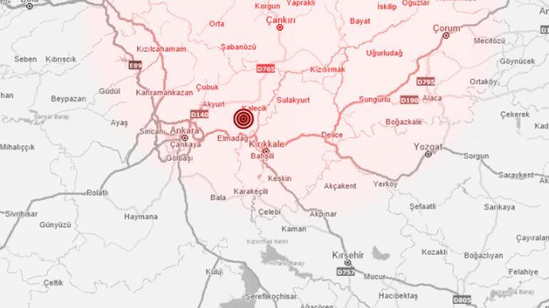 Son dakika Ankarada korkutan deprem: Merkez üssü ve büyüklüğü belli oldu