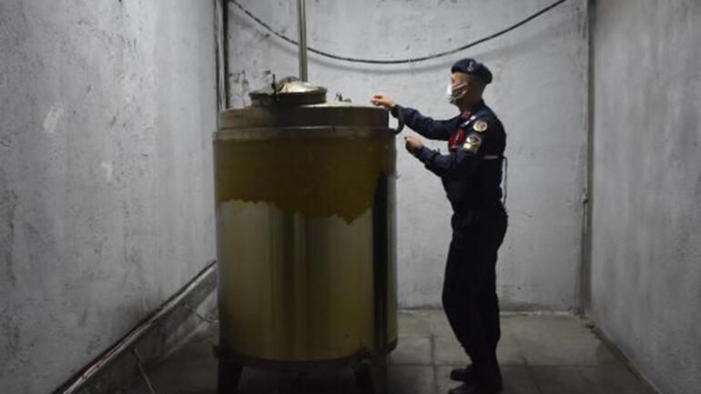 Sahte rakı yapımında kullanılan 7 bin 803 litre etil alkol ele geçirildi