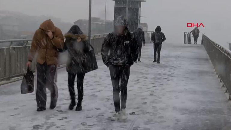 İstanbula kar ne zaman yağacak sorusu yanıtını buldu Beklenen kar yağışı geldi