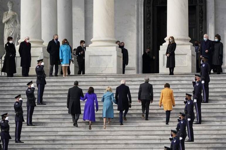 CANLI... Joe Biden ABDnin 46ncı Başkanı olarak göreve başladı İşte dünyaya ilk mesajı...