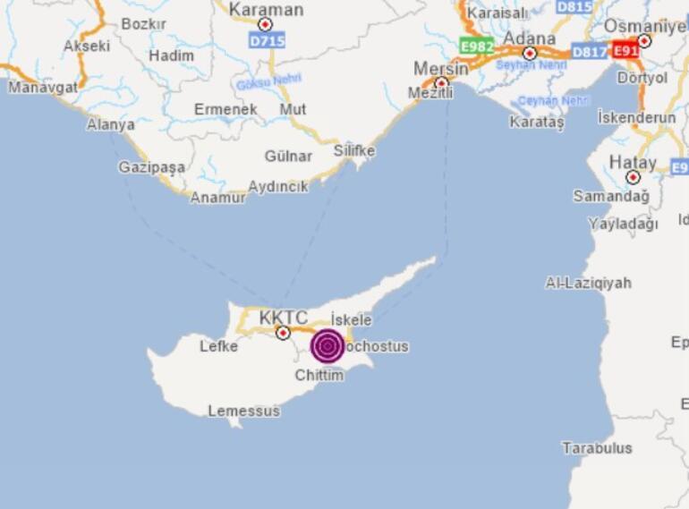 Son dakika: Kıbrısta korkutan deprem Hatay ve Mersin çevrelerinden de hissedildi