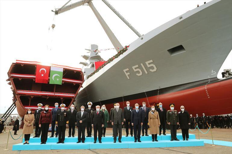 Se lanzó la primera fragata nacional ... declaraciones rápidas del presidente Erdogan