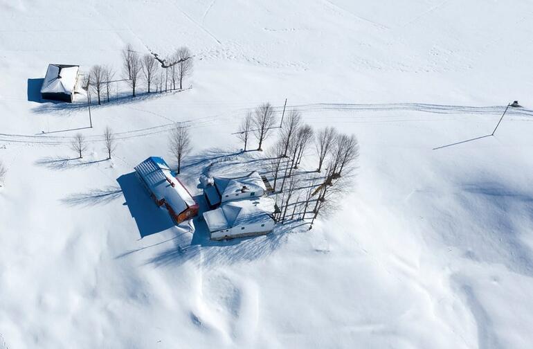 Karadeniz yaylalarında kış güzelliği