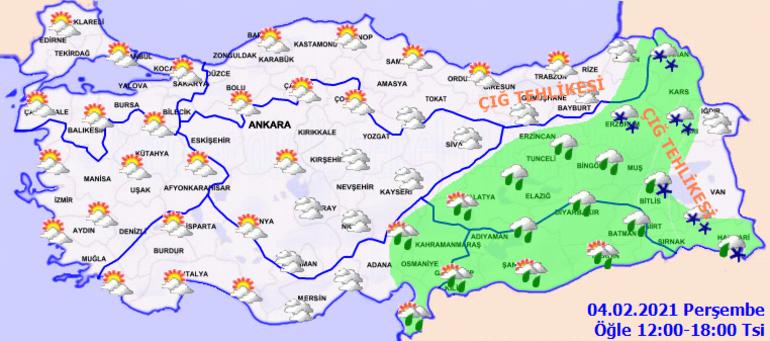 Meteoroloji bölge bölge uyardı Dikkat: Kar yağışı, çığ ve yağmur...