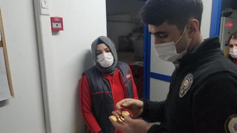 Markette buldukları 20 bin liralık altını polise teslim ettiler