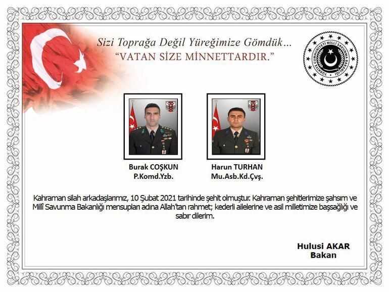 Son dakika haberi: MSB acı haberi duyurdu: 2 asker şehit, 4 asker yaralı