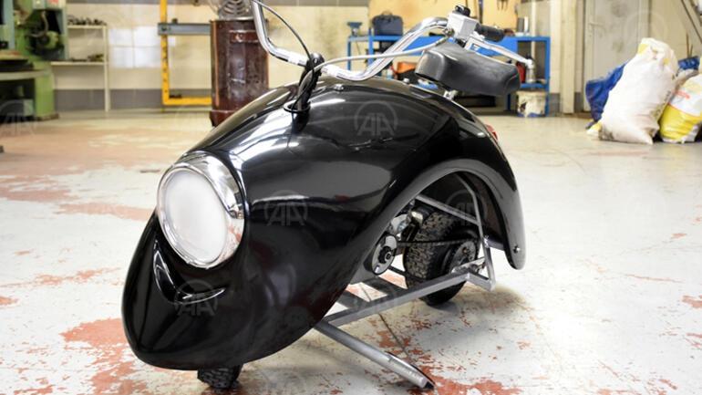 Bursada iki arkadaş özgün tasarımlı motosiklet üretti