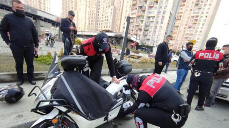 Esenyurtta Motosikletli Polis Timlerinden helikopter destekli motosiklet denetimi