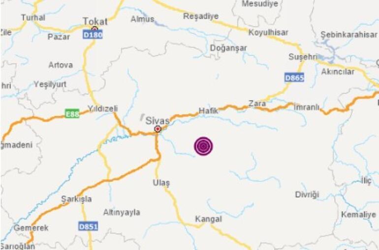 Son dakika deprem haberi: Sivasta 3.8 büyüklüğünde deprem