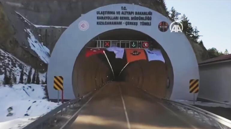Kızılcahamam-Çerkeş Tüneli açıldı... Cumhurbaşkanı Erdoğandan net mesaj: Hayatımızı ortaya koyuyoruz