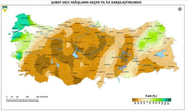 Meteoroloji haritayı paylaşarak duyurdu Bazı bölgelerde yüzde 80i aştı