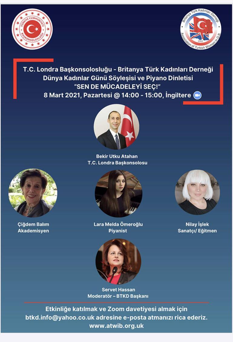 Londra Başkonsolosu'ndan 'Dünya Kadınlar Günü'ne destek