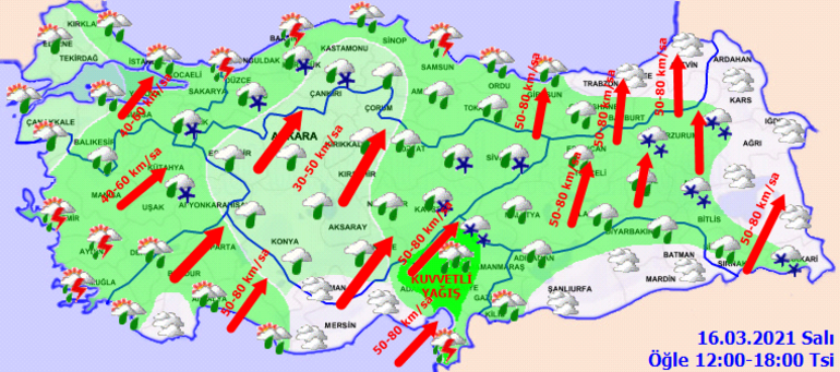 Meteoroloji duyurdu Tüm yurtta yağış var: Sağanak, kar, fırtına...