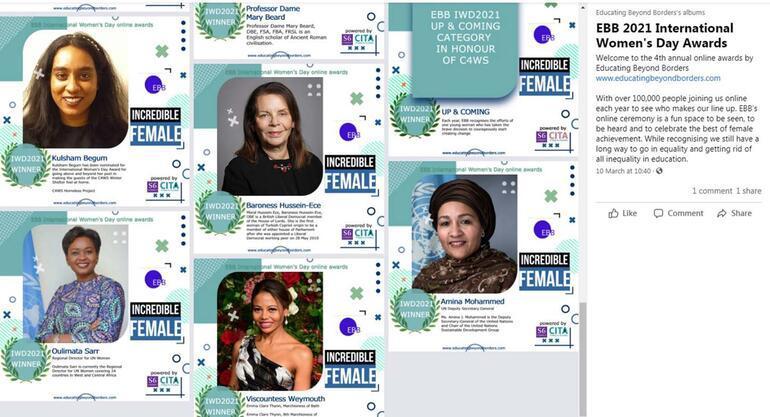 Kıbrıslı Türk Barones'e 'İnanılmaz Kadın' ödülü