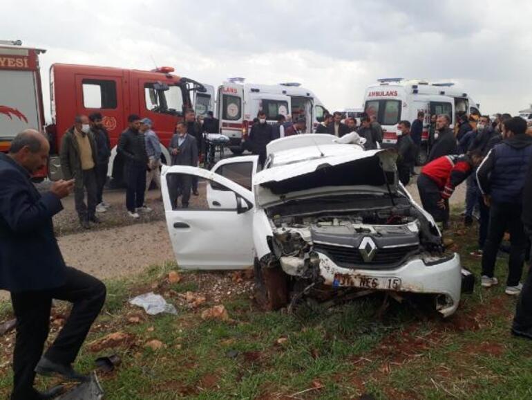 Diyarbakırda feci kaza 1 ölü, 3 yaralı
