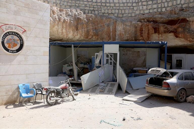 İdlibde hastaneye top saldırısı Ölü ve yaralılar var