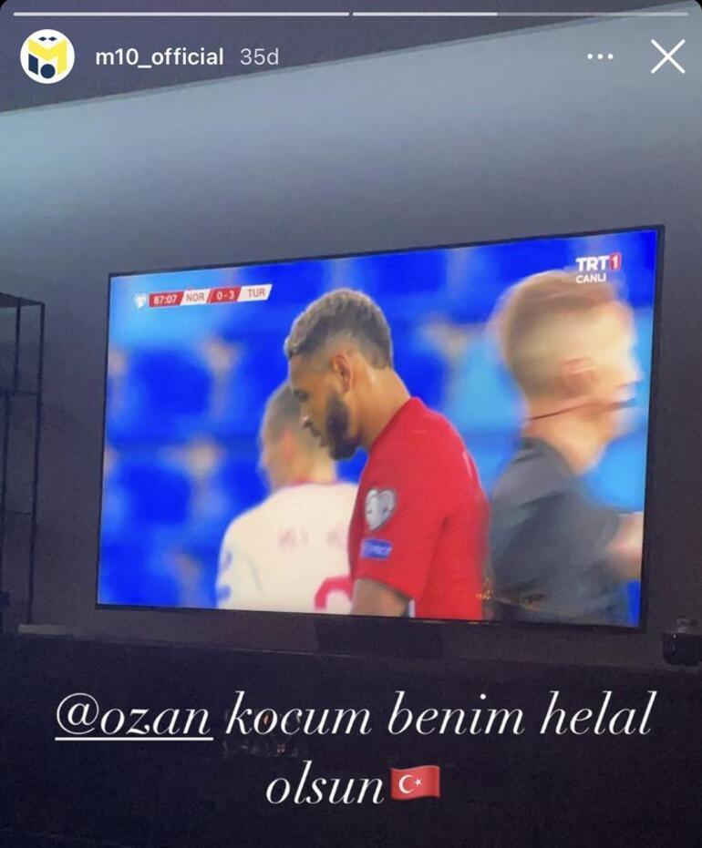 Mesut Özilden Norveç-Türkiye maçında Ozan Tufan paylaşımı