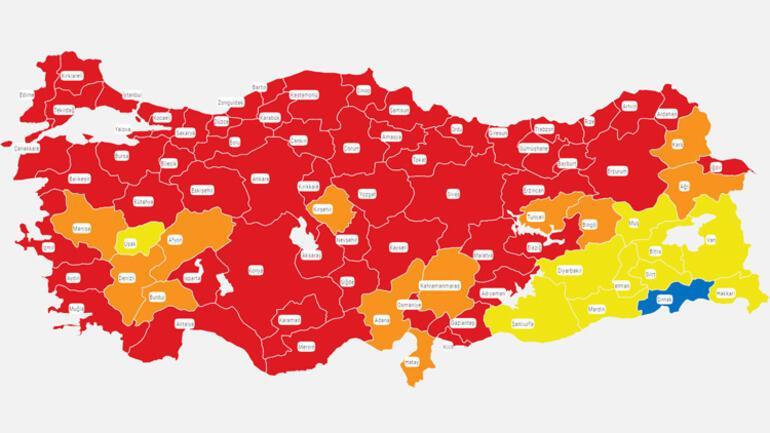 Türkiye koronavirüs vaka haritası güncellendi Mavi il kalmadı, İstanbulda kâbus gibi artış