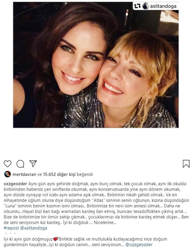 Özge Özder ile Aslı Tandoğandan doğum günü mesajları: Hayat bizi kan bağı aramadan kardeş ilan etmiş