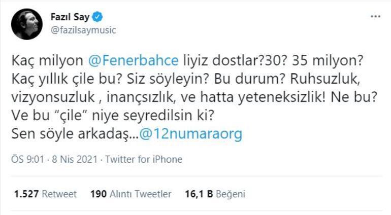Yeni Malatya beraberliği sonrası Fenerbahçeli Fazıl Say isyan etti Kaç yıllık çile bu...