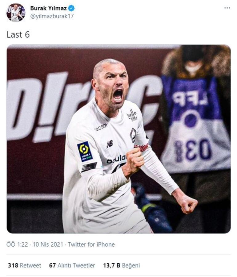 Burak Yılmazın Metz maçından sonraki paylaşımı olay oldu Taraftar coştu...