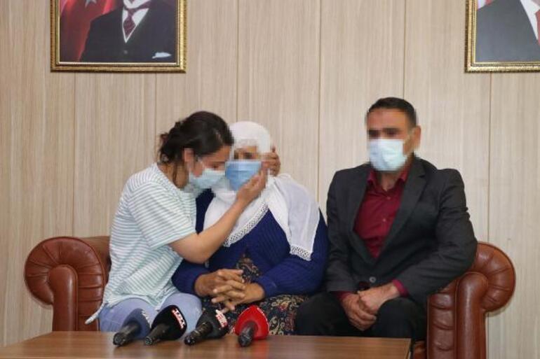 İkna edilerek teslim olan kadın PKKlı, ailesine kavuştu