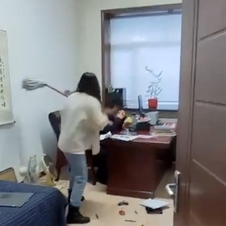 Sosyal medyada viral oldu: Taciz mesajı aldığı patronuna saldırdı