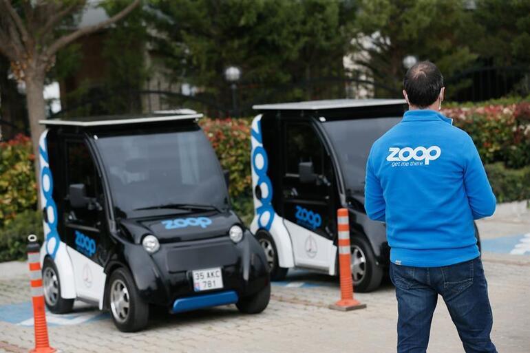 Elektrikli paylaşımlı mini araç İzmirde faaliyete geçti