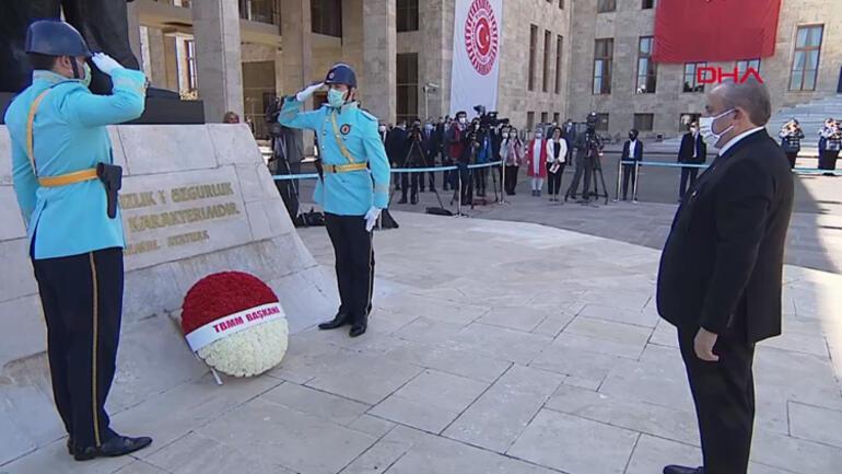 23 Nisan ve TBMMnin 101. açılış yıl dönümü kutlanıyor Meclis ve Anıtkabirde tören